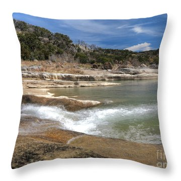Throw Pillow featuring the photograph Pendernales Falls Texas by Martin Konopacki