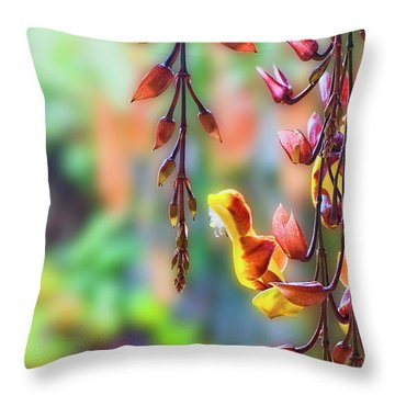Pending Flowers Throw Pillow