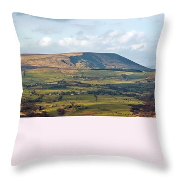 Throw Pillow featuring the photograph Pendle Hill Lancashire England by Jane McIlroy