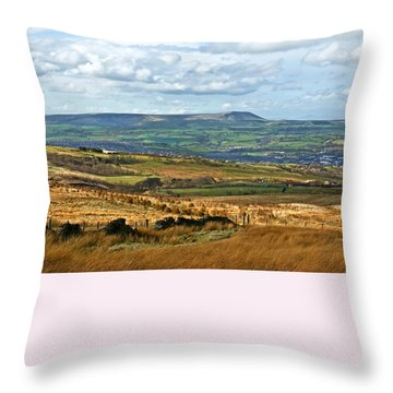 Throw Pillow featuring the photograph Pendle Hill Lancashire by Jane McIlroy