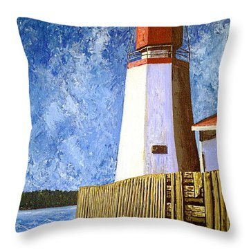 Pendlebury Lighthouse Throw Pillow