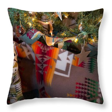 Pendleton Christmas Throw Pillow by Patricia Babbitt