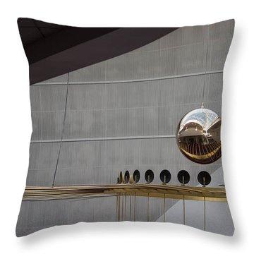 Throw Pillow featuring the photograph Pendulum Sculpture by Patricia Babbitt