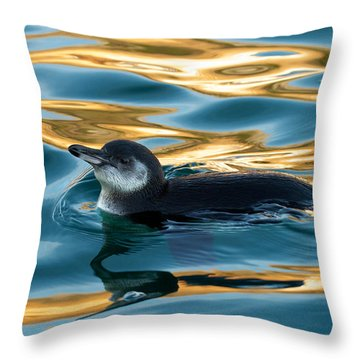 Penguin Watercolor 2 Throw Pillow