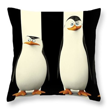 Penguins Of Madagascar Throw Pillow