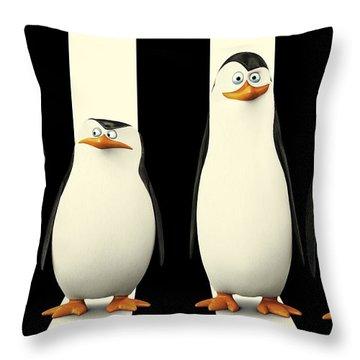 Penguins Of Madagascar Throw Pillow