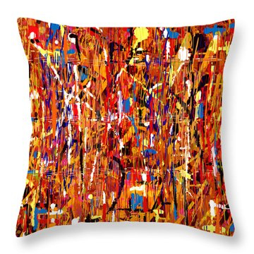 Throw Pillow featuring the painting Penman Original - 101 by Andrew Penman