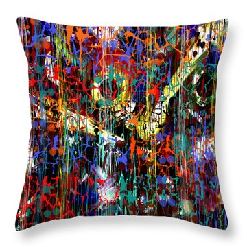Throw Pillow featuring the painting Penman Original - 104 by Andrew Penman
