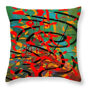 Throw Pillow featuring the painting Penman Original - 106 by Andrew Penman