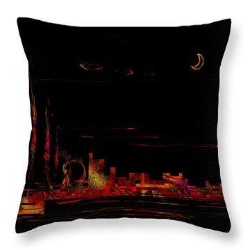 Throw Pillow featuring the painting Penman Original - 2 by Andrew Penman