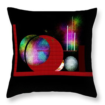 Throw Pillow featuring the painting Penman Original - Many Moons  by Andrew Penman