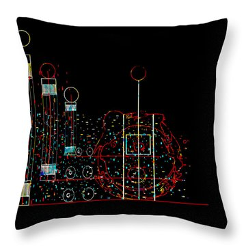 Throw Pillow featuring the painting Penman Original - Recycled Art 2 by Andrew Penman