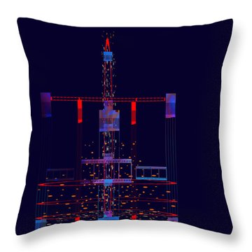 Throw Pillow featuring the painting Penman Original - Untitled 97 by Andrew Penman