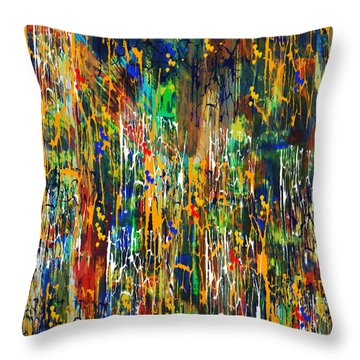 Throw Pillow featuring the painting Penman Original - Untitled 98 by Andrew Penman
