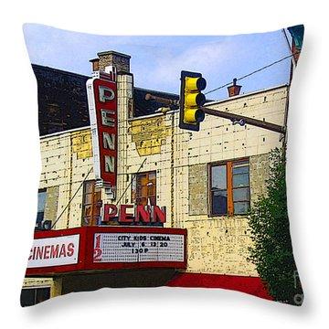 Penn Cinemas In Ohiopyle Throw Pillow by Nina Silver