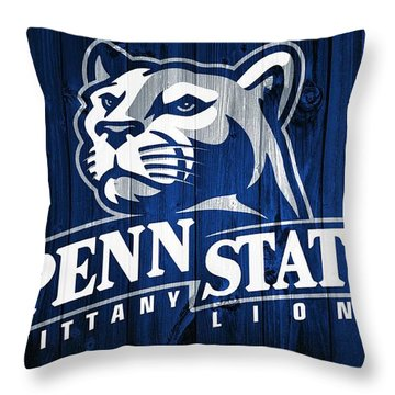 Penn State Barn Door Throw Pillow by Dan Sproul
