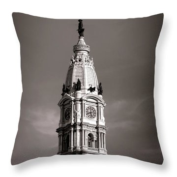 Penn Watching Throw Pillow by Olivier Le Queinec