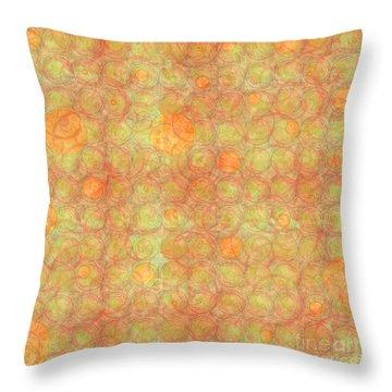 Throw Pillow featuring the digital art Pennies From Somewhere by Gabrielle Schertz