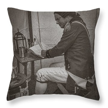 Penning A Letter To King George The Third   Throw Pillow