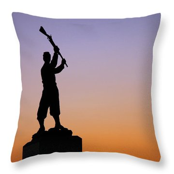 Throw Pillow featuring the photograph Pennsylvania 72nd Memorial by James Kirkikis