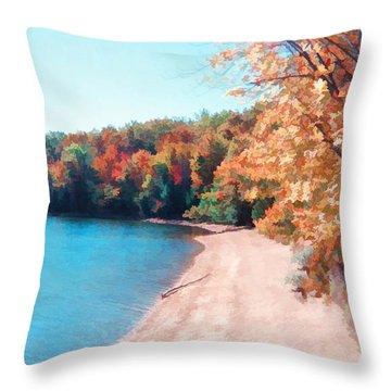 Pennsylvania Autumn 001 Throw Pillow