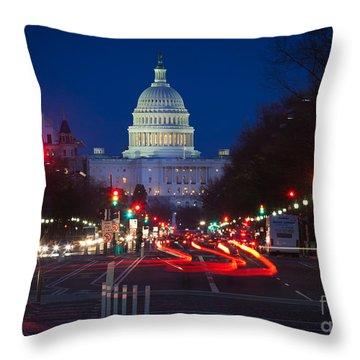 Pennsylvania Avenue Throw Pillow by Inge Johnsson