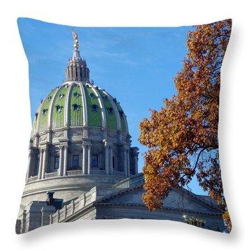 Pennsylvania Capitol Building Throw Pillow