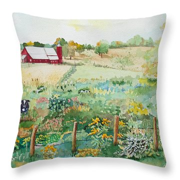 Pennsylvania Pasture Throw Pillow