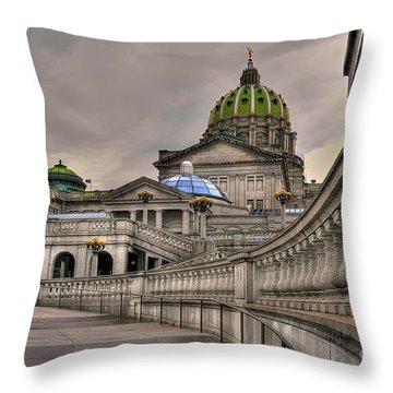 Pennsylvania State Capital Throw Pillow