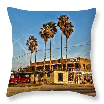 Throw Pillow featuring the photograph Penny Bar Mckittrick California by Lanita Williams