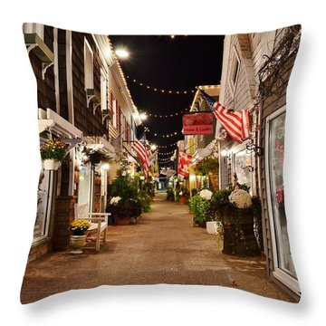 Penny Lane At Night - Rehoboth Beach Delaware Throw Pillow