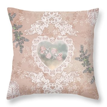 Penny Postcard Passionate Throw Pillow