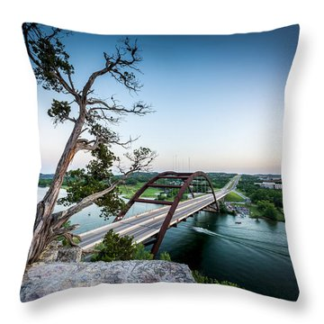 Pennybacker Bridge Austin Throw Pillow