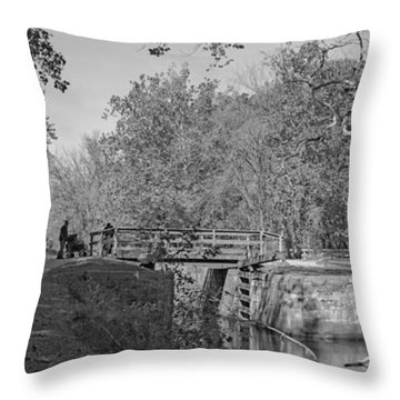 Pennyfield Lock Chesapeake And Ohio Canal Throw Pillow