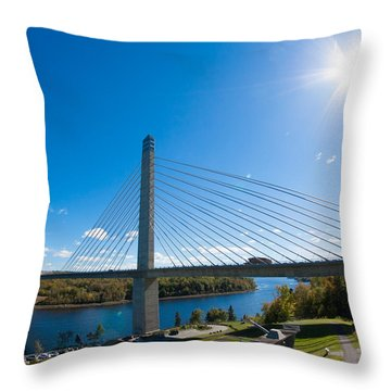 Penobscot Narrows Bridge - Maine Throw Pillow