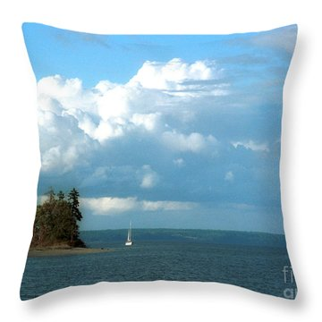 Throw Pillow featuring the photograph Penrose Point Sail by Jeanette French
