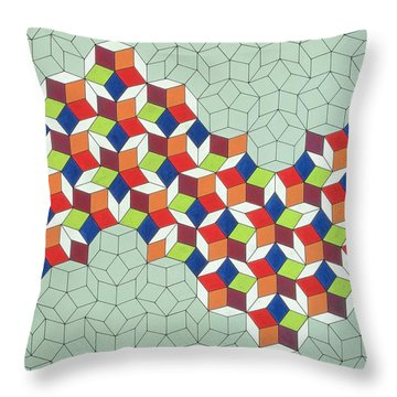 Penrose's Conundrum Throw Pillow by Peter Hugo McClure