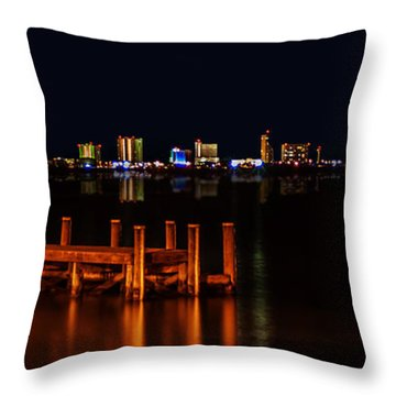 Pensacola Beach Reflections Throw Pillow