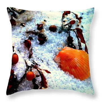 Pensacola Beach Sand Throw Pillow by Faith Williams