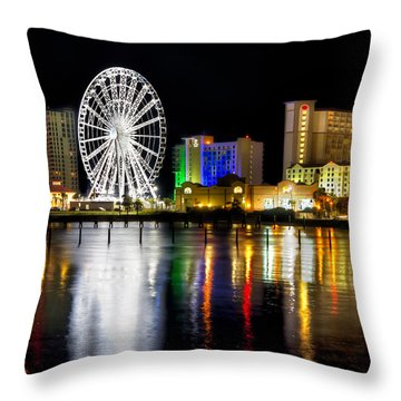 Pensacola Beach Skyline Throw Pillow by Tim Stanley