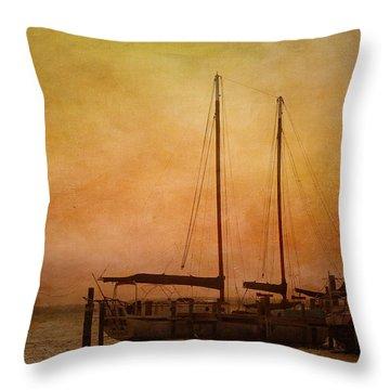Pensacola Harbor Throw Pillow