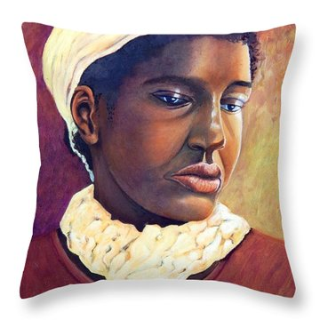 Pensive Contemplation Throw Pillow by Caroline Street