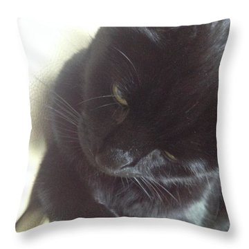 Pensive Throw Pillow by Kim Prowse