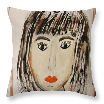 Pensive M.  Throw Pillow by Mary Carol Williams