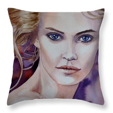 Raw Beauty Throw Pillow