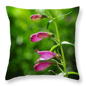 Throw Pillow featuring the photograph Penstemon by Karen Slagle