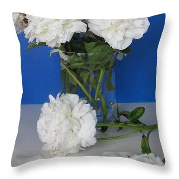 Throw Pillow featuring the photograph Peonies 1 by Margaret Newcomb
