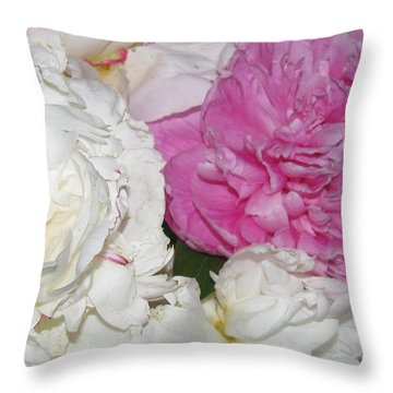 Throw Pillow featuring the photograph Peonies 11 by Margaret Newcomb