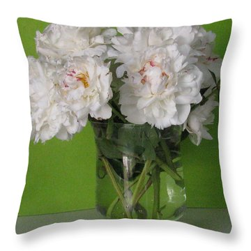 Throw Pillow featuring the photograph Peonies 2 by Margaret Newcomb