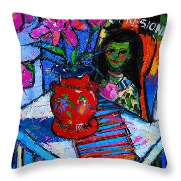 Peonies And Art Book Throw Pillow